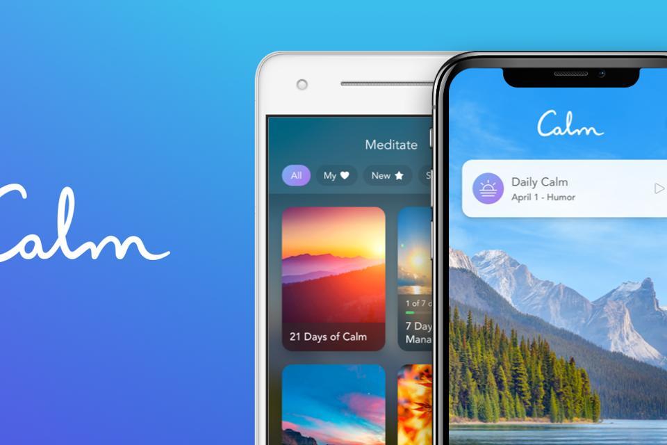 Calm app on phone