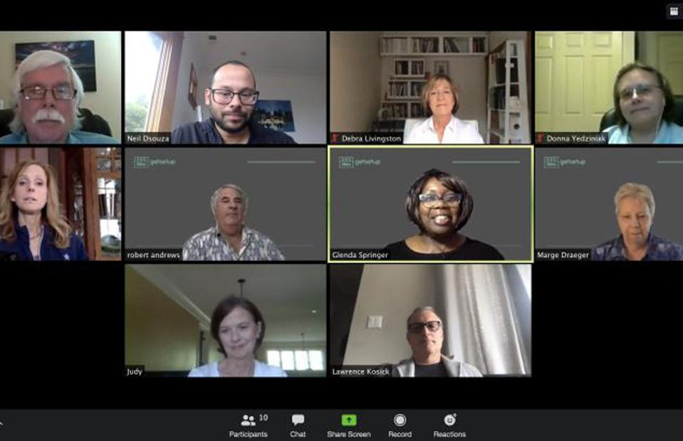 GetSetUp's team holding a virtual staff meeting