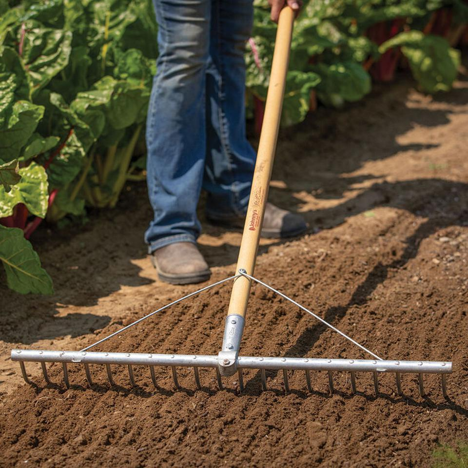 Johnny's Garden Seeds bed preparation rake