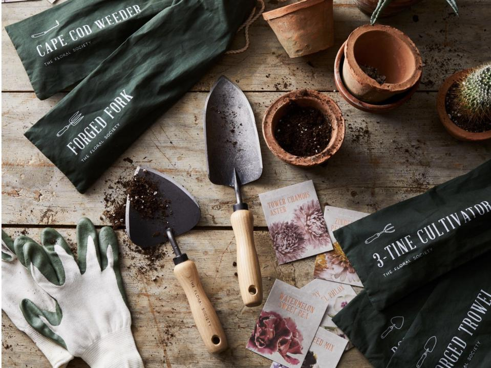 A collection of gardening tools from Food52