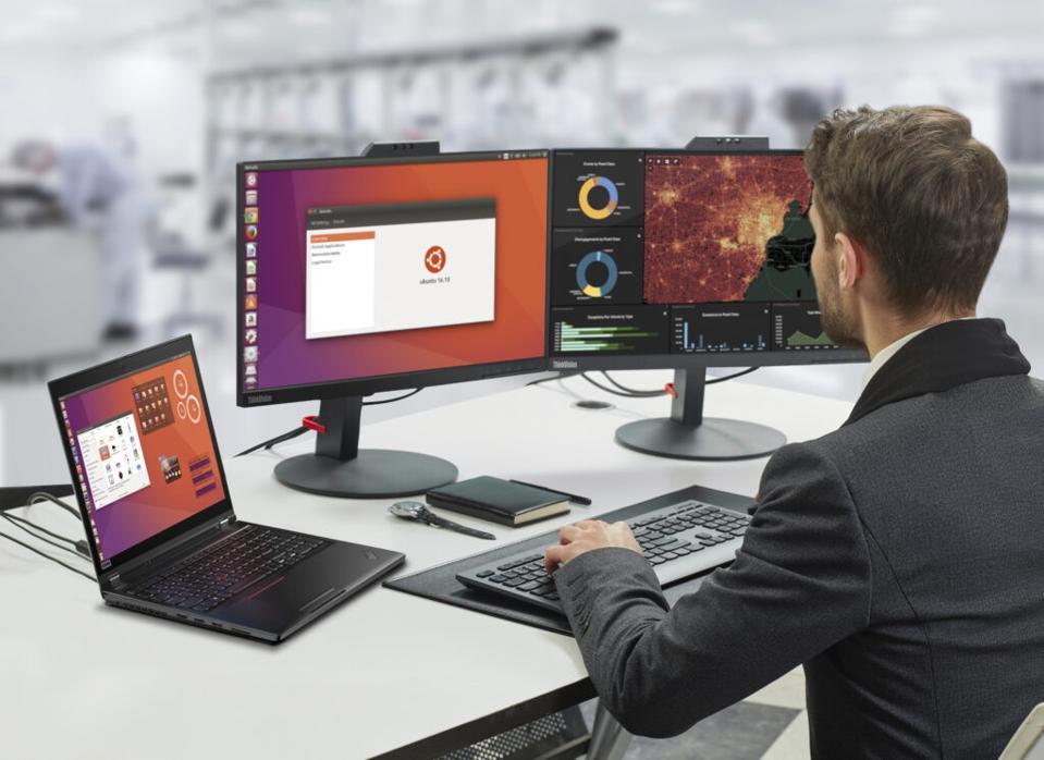 A ThinkPad P53 running Ubuntu LTS