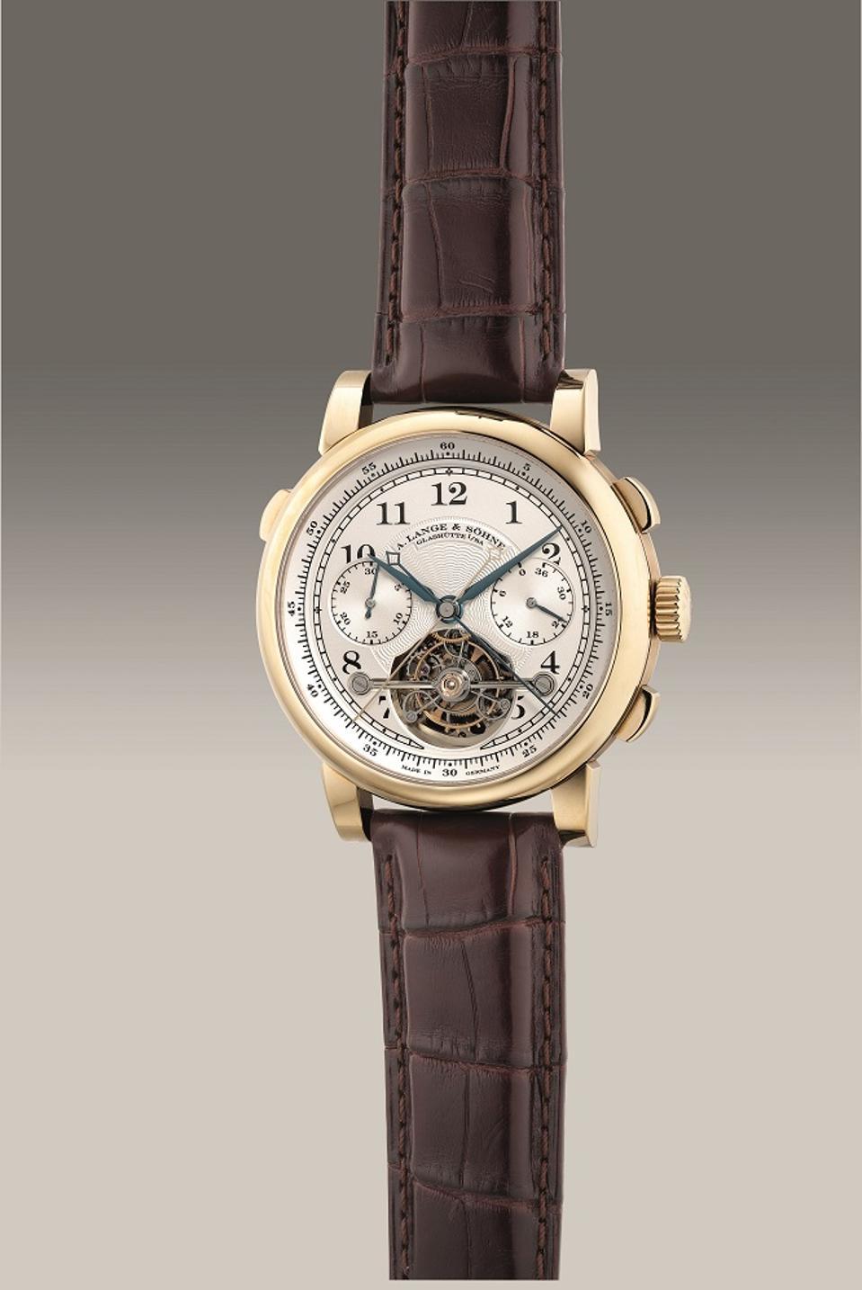 """A. Lange & Söhne Tourbograph """"Pour le Mérite"""" in 18k honey gold"""