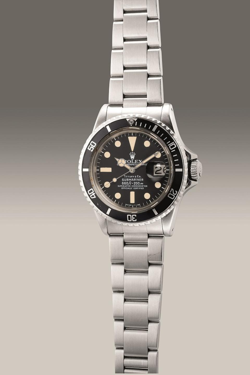 Rolex Reference 1680, 1977, stainless steel diver's wristwatch retailed by Tiffany & Co.