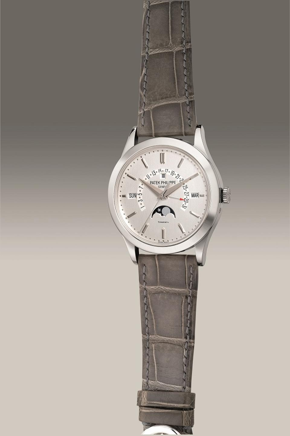 Patek Philippe Reference 5496P-001, 2015, platinum perpetual calendar retailed by Tifany & Co.