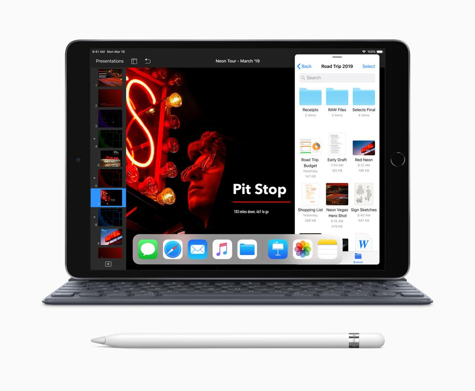 The third generation iPad Air with Smart Keyboard