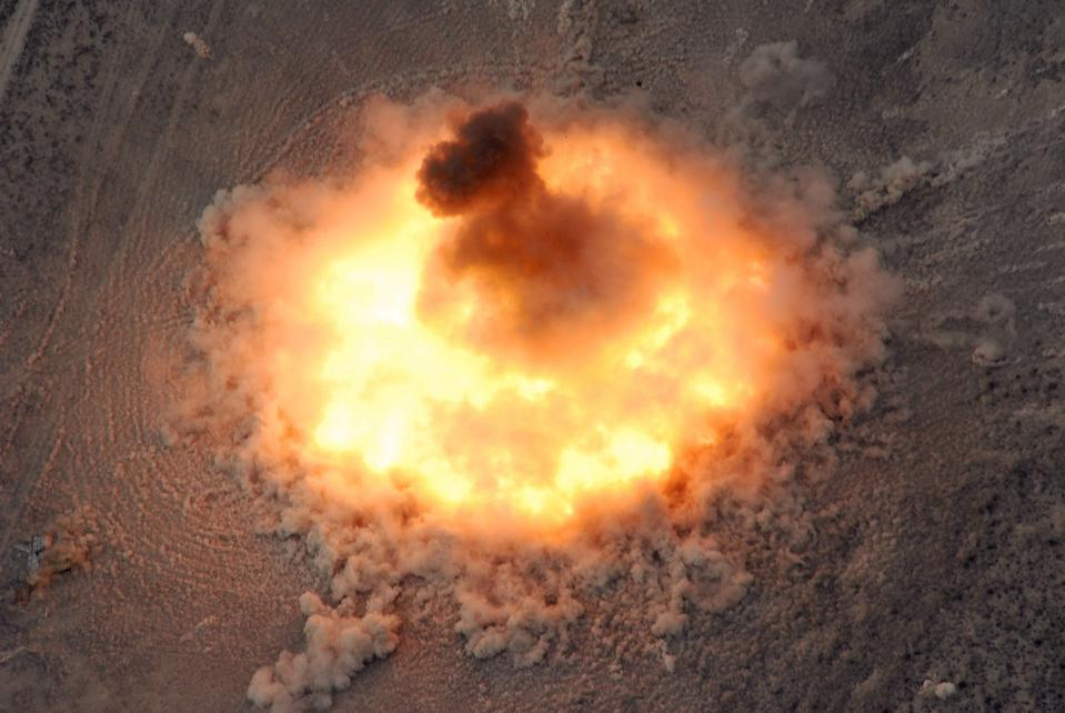 A huge bomb explosion