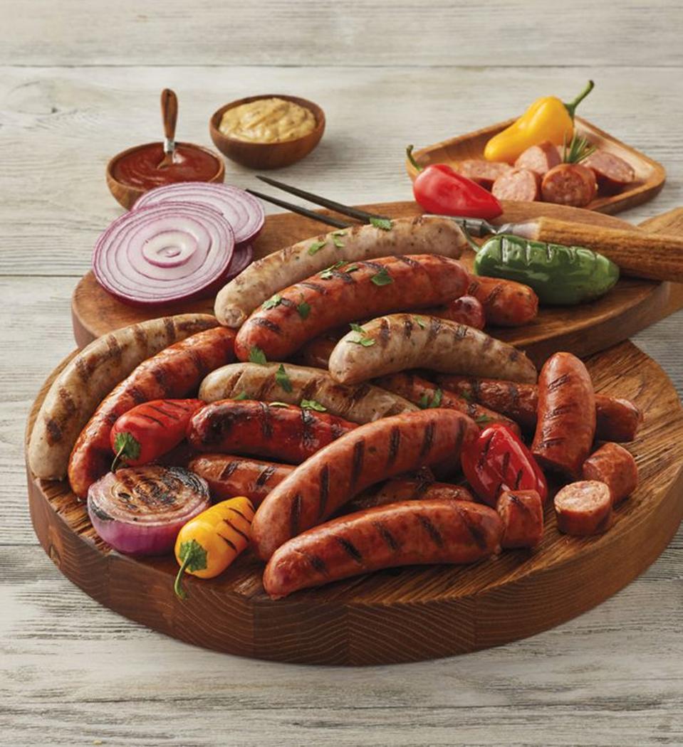 A Harry & David summer sausage sampler