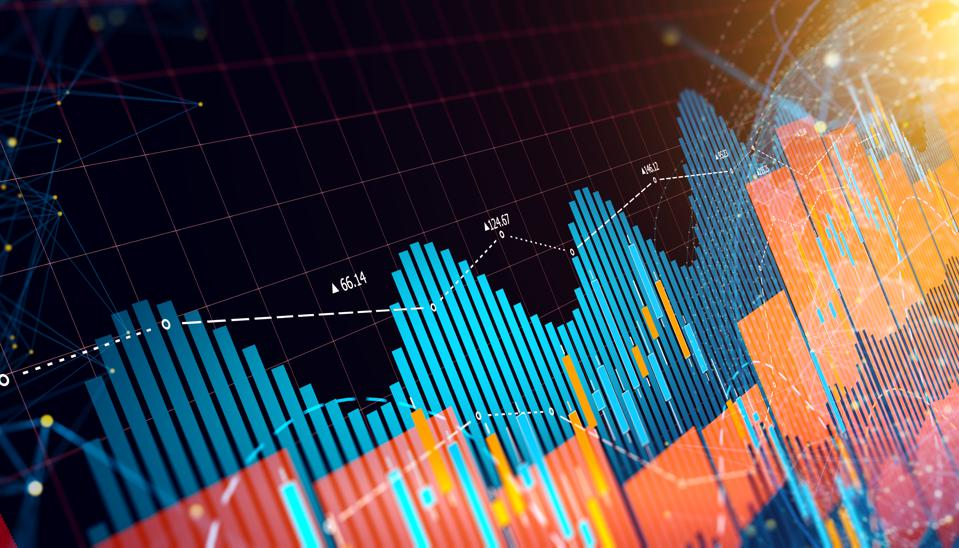 Graphs and charts of business trends