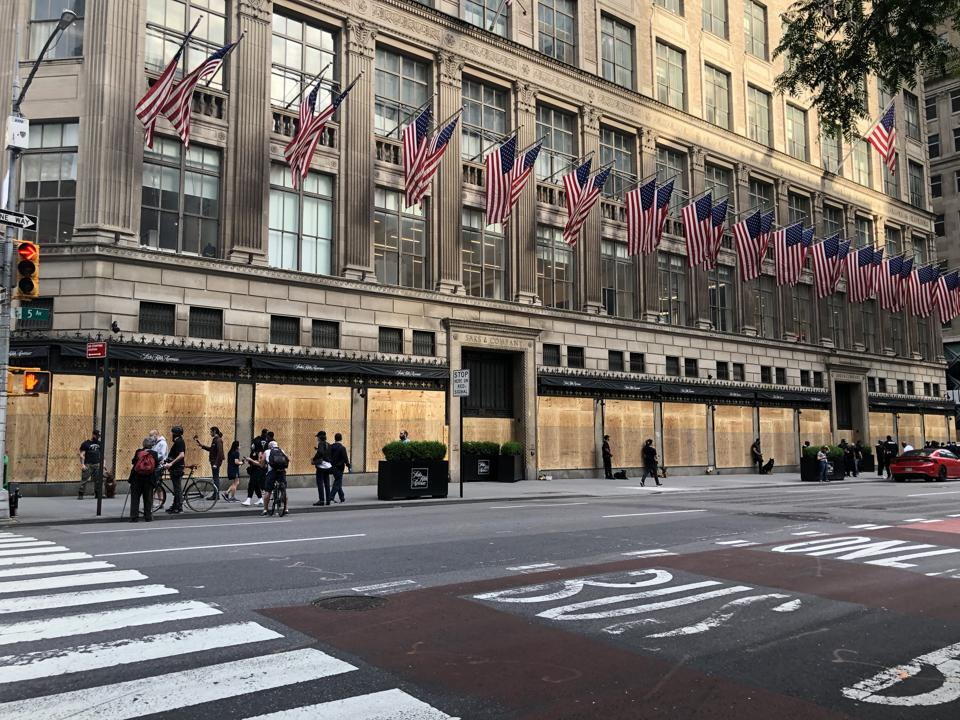 Saks security protest