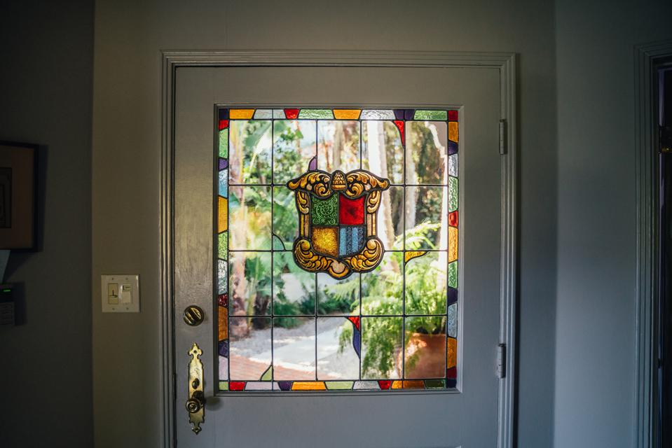 Stained-glass front door