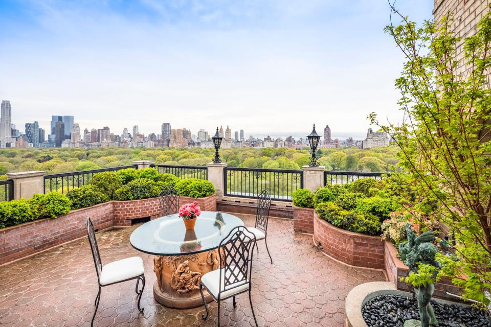 A Fifth Avenue triplex with 6,450 square feet and a 1,200-square foot terrace. The unit has 5 bedrooms, 4 bathrooms, 2 powder rooms. Asking Price: $39,750,000