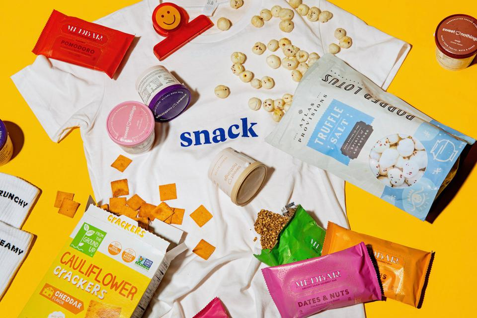 Various snacks on display