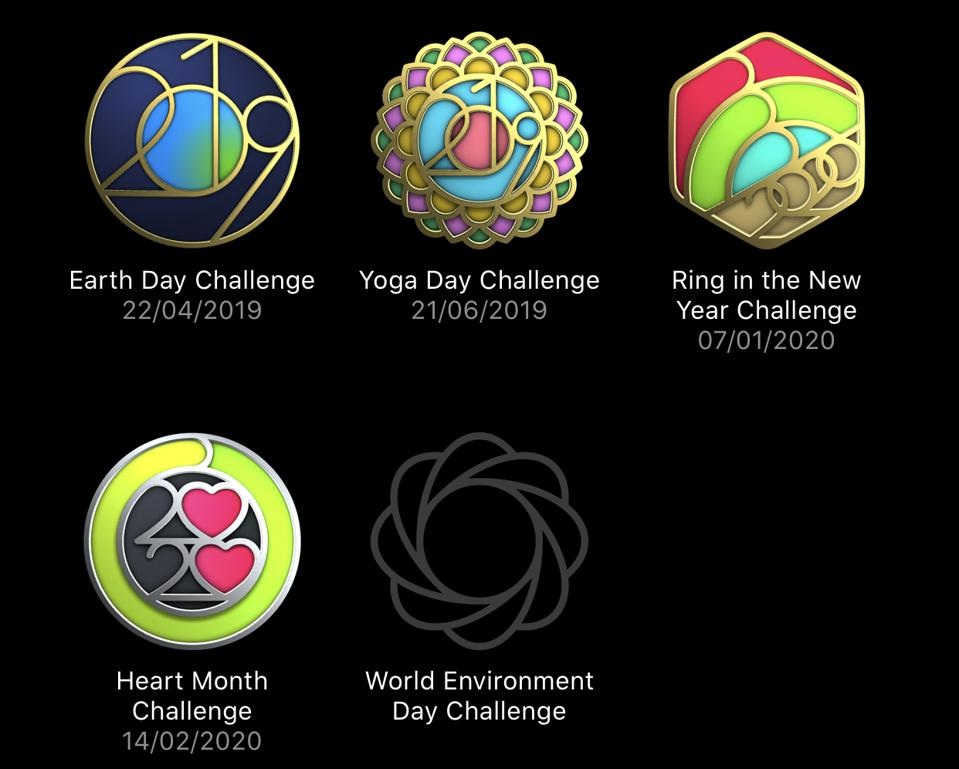Recent Apple Watch limited-edition challenges