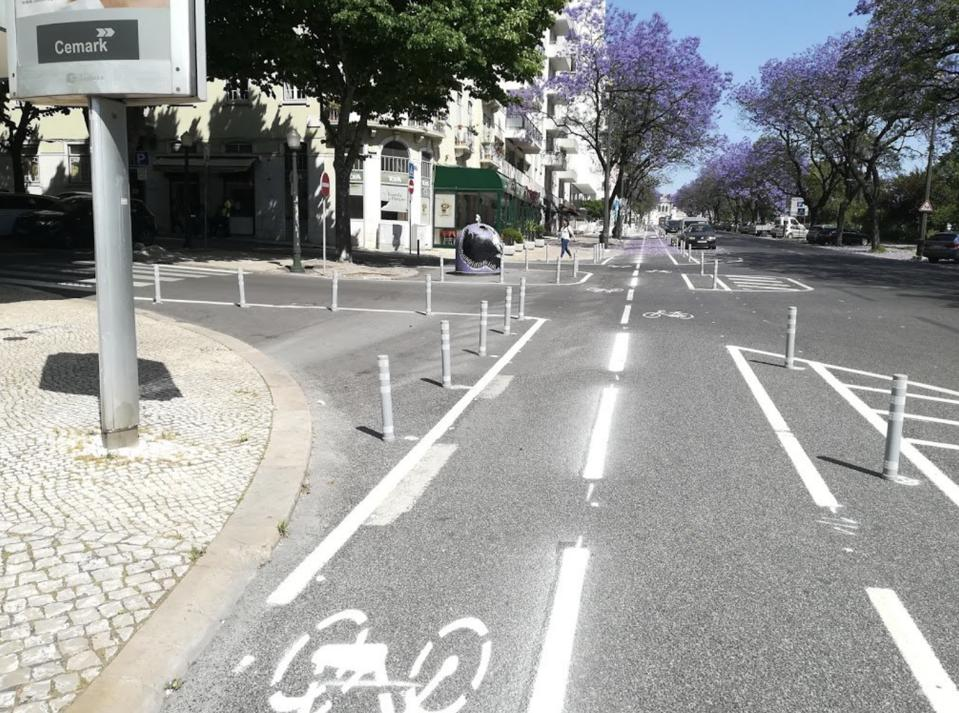 Pop-up cycleway Lisbon