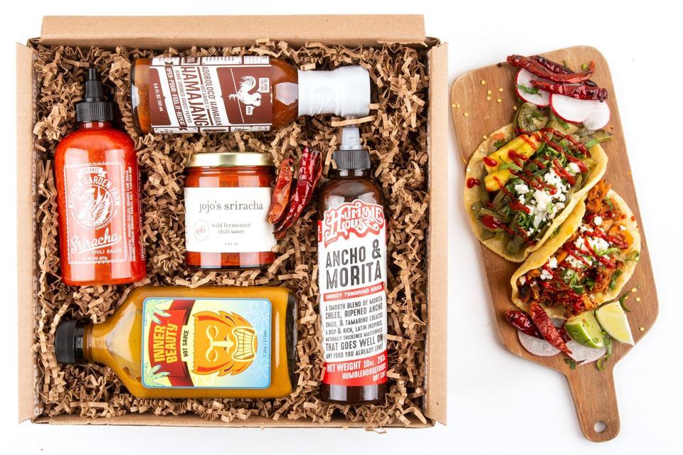 Mouth Hot Hot Hot Sauce gift box
