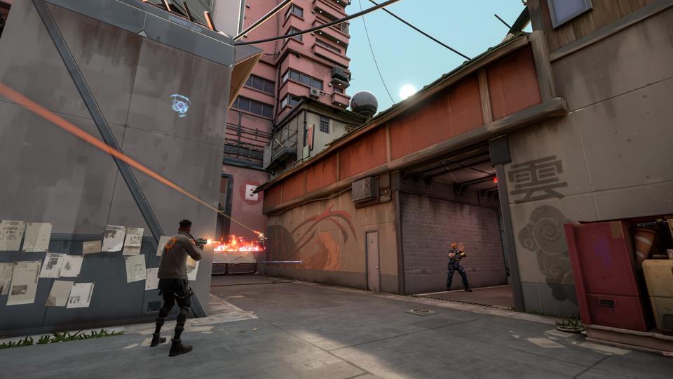 I giocatori combattono su Split in Valorant.