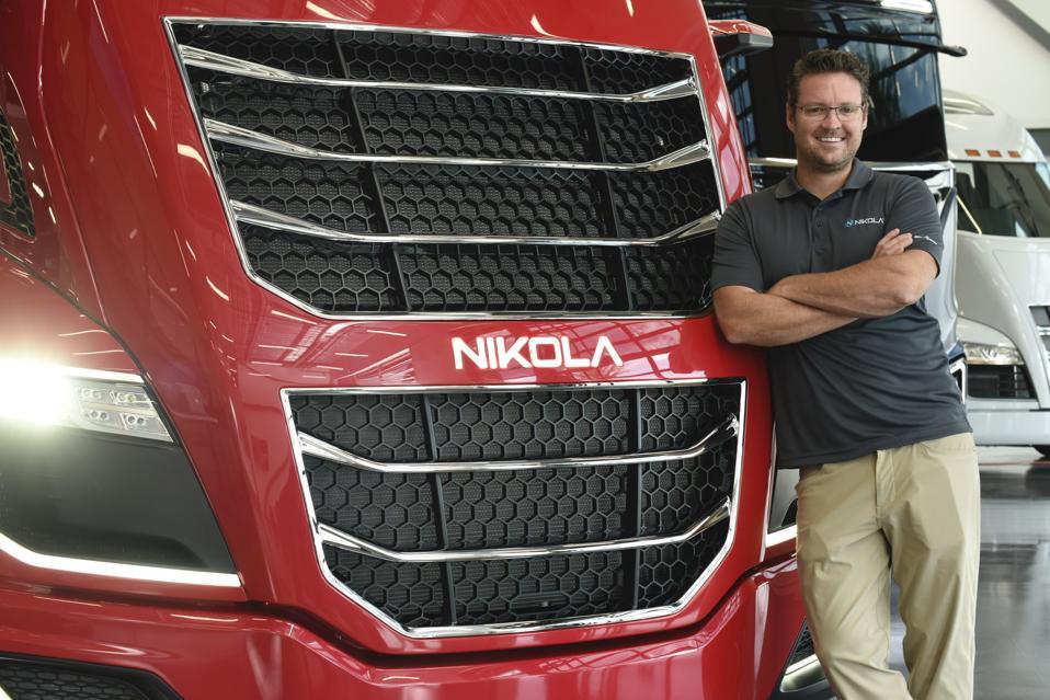 Nikola founder Trevor Milton at the company's Phoenix headquarters.