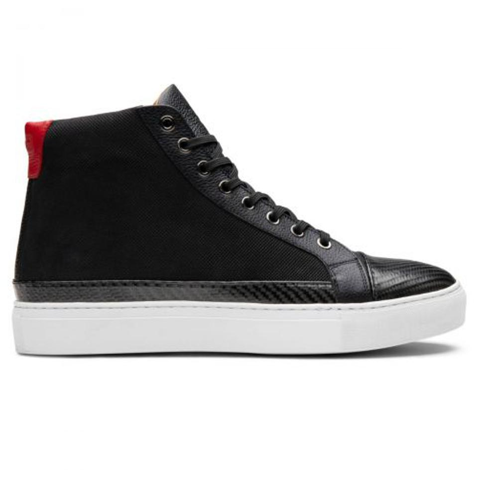 The RDB Shoes Carbon High Top is a slick take on the classic silhouette