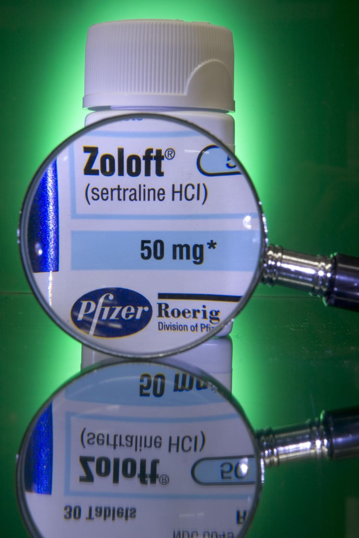 zoloft (generic name, sertraline), bottle