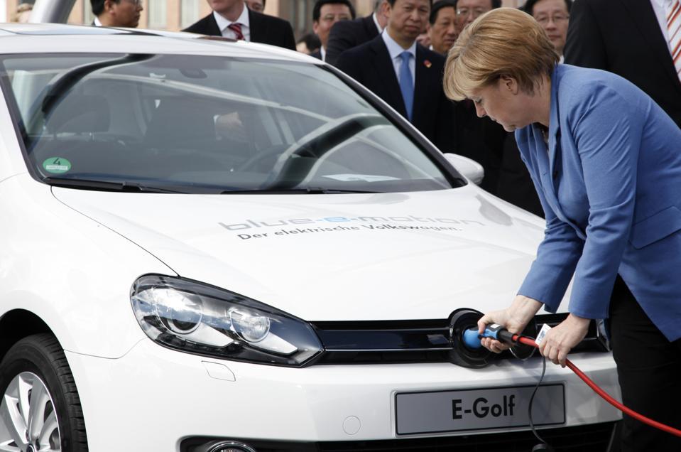 Volkswagen EVs Angela Merkel