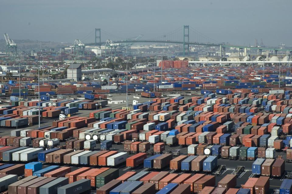 Container terminal at the Port of Long Beach, California