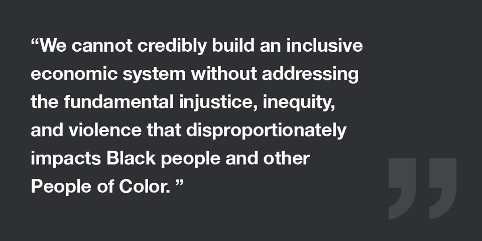 We cannot build without addressing inequity.