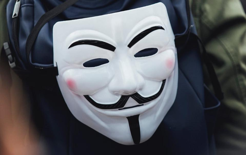 An 'Anonymous' mask