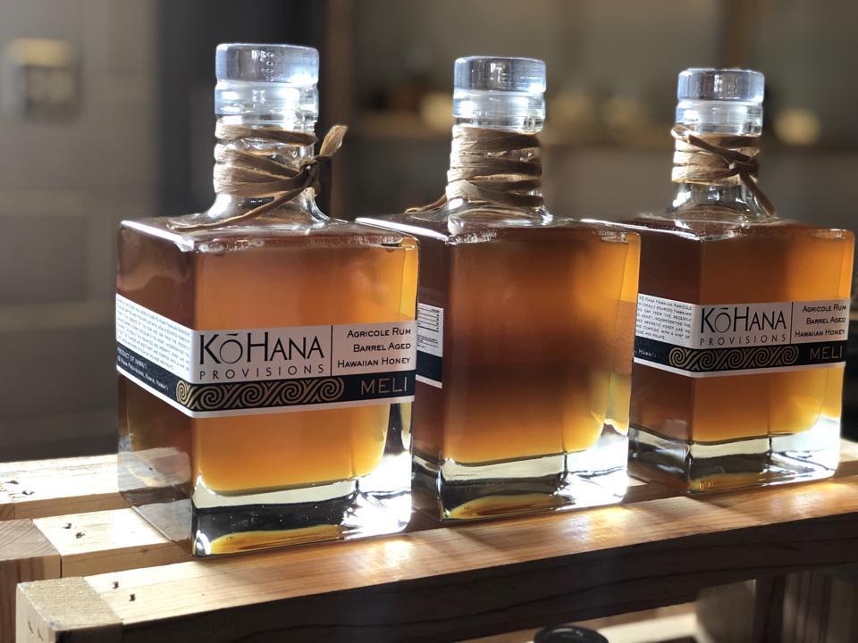 Meli agricole rum at Ko Hana Distillers on Oahu