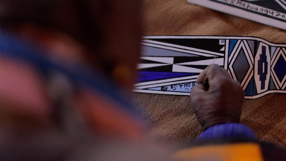 South African artist Esther Mahlangu working on a Rolls-Royce Phantom Gallery