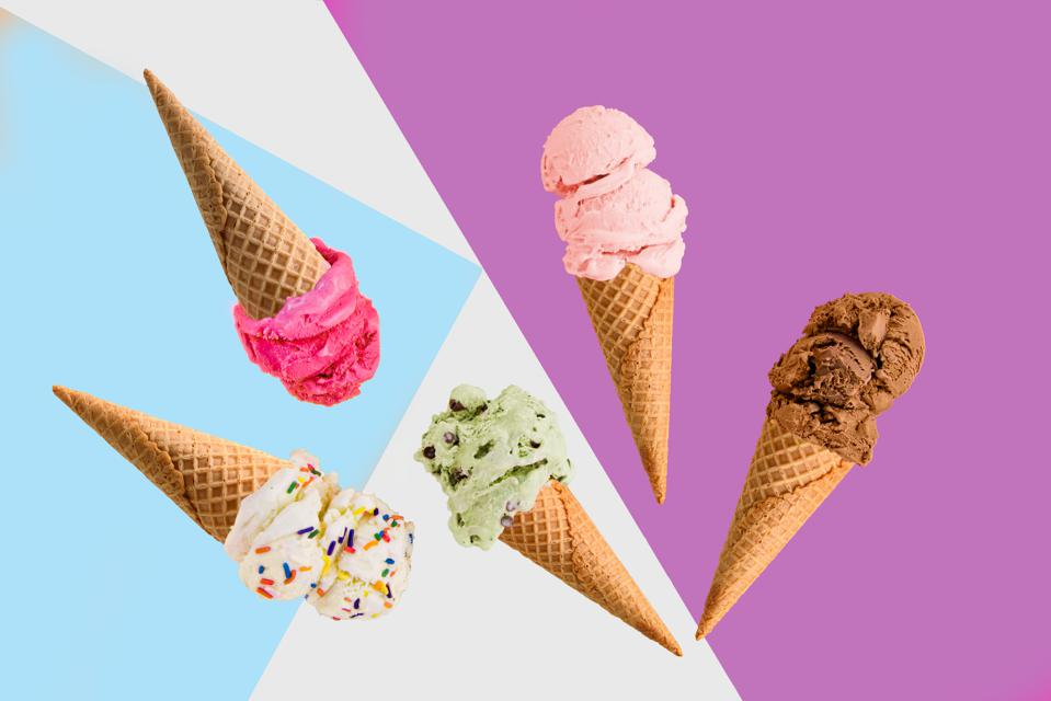 Peekaboo organic ice cream with hidden veggies