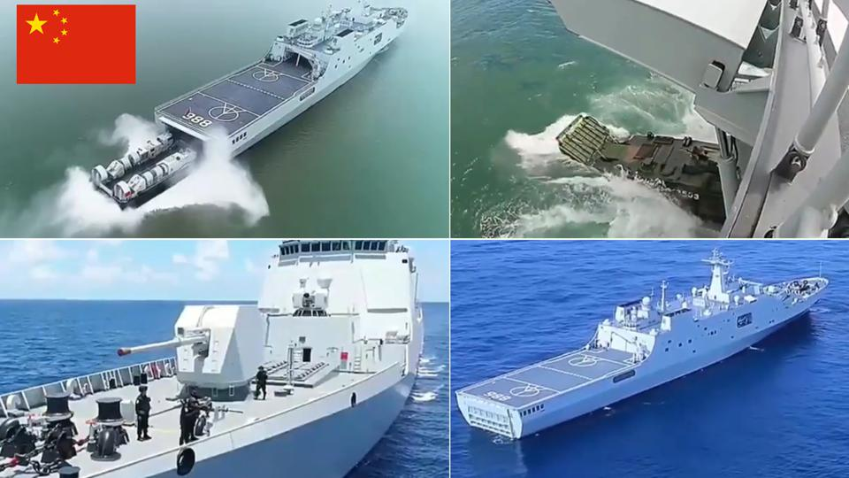 Chinese Navy amphibious warfare capabilities including a hovercraft