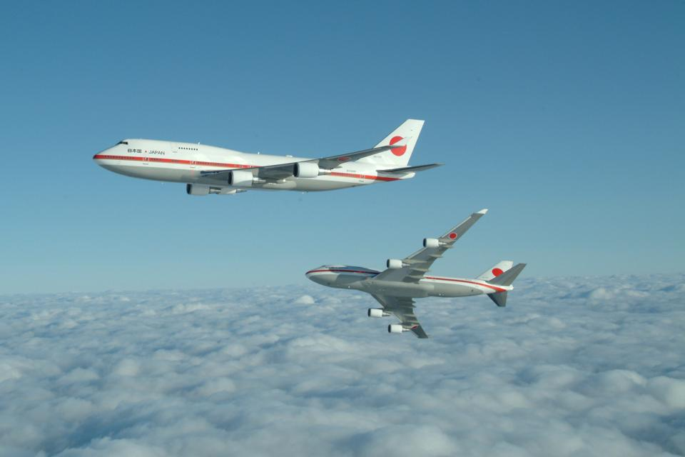 Japan's former 747 Air Force One aircraft