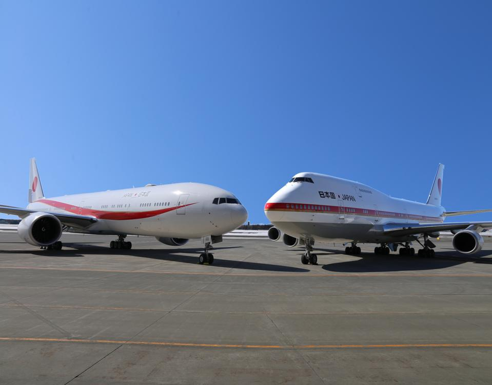 Japan's new 777 Air Force One and former 747