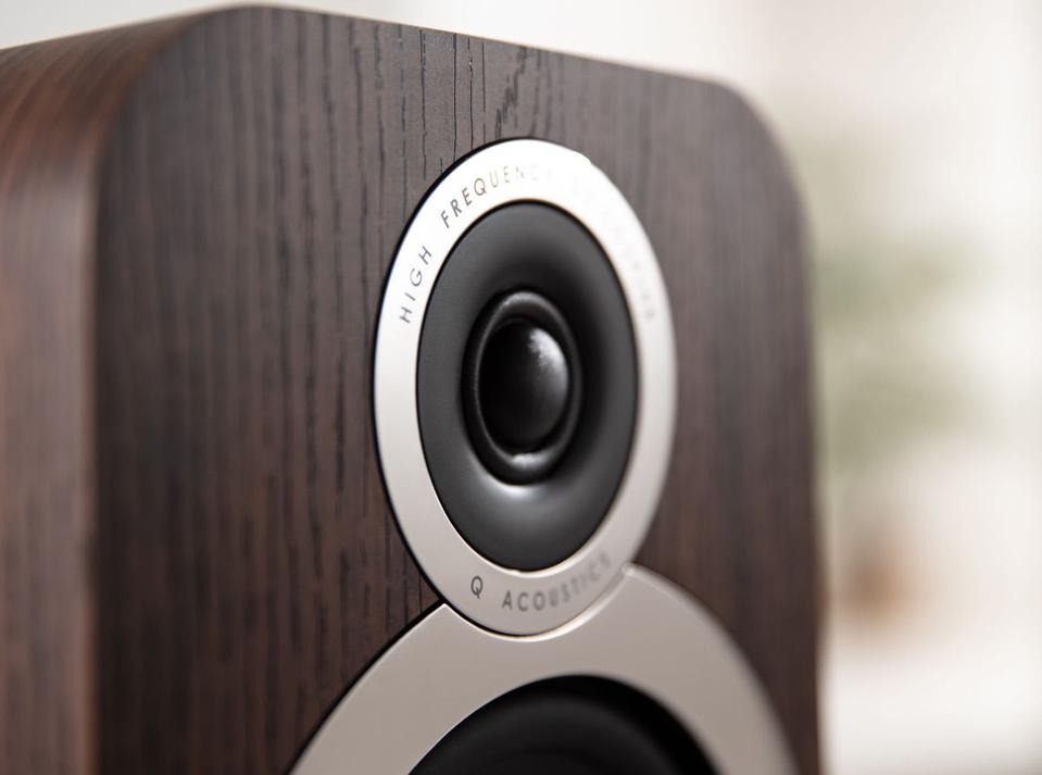Close up of tweeter used on the Q Acoustics 3030i