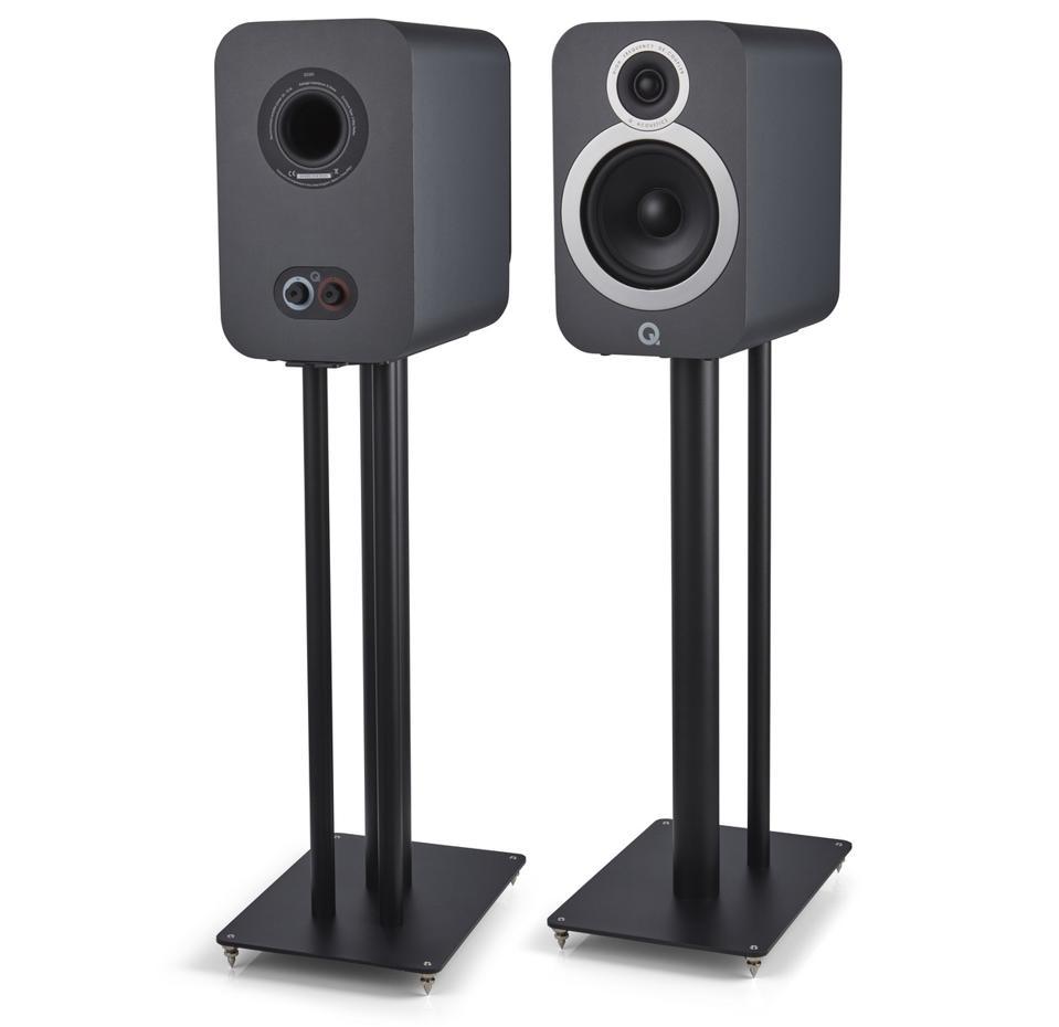 Pair of Q Acoustics 3030i on floorstands