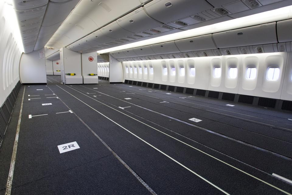 Air Canada removed seats from 777-300ERs to create space for cargo