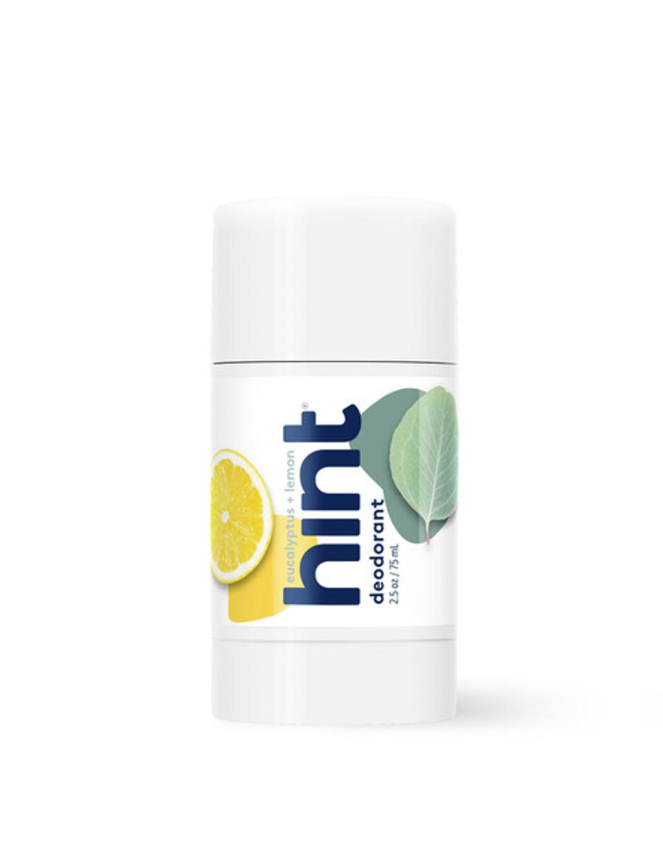 Hint Eucalyptus +Lemon Deodorant made with 100% Plant-Derived Ingredients
