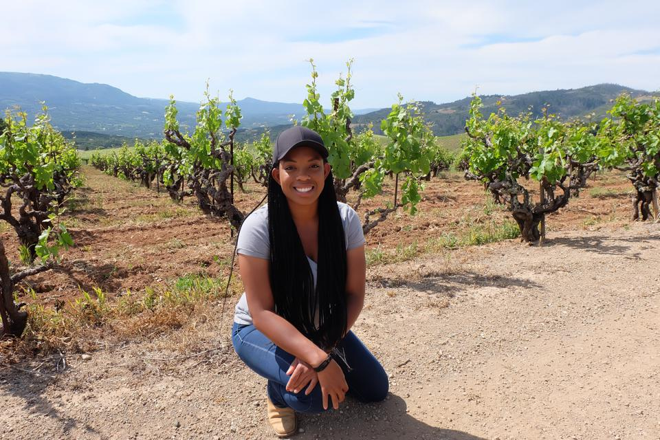 Vineyard Manager Brenae Royal in the Monte Rosso Vineyard.