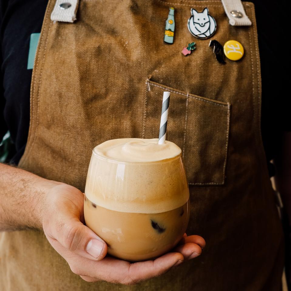 dalgona coffee at foxtrot market