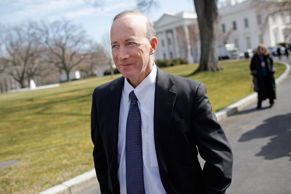 Mitch Daniels, president of Purdue University, at the White House