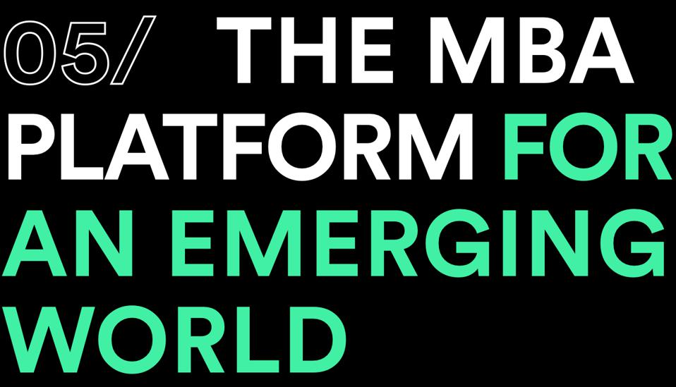 the mba platform for an emerging world