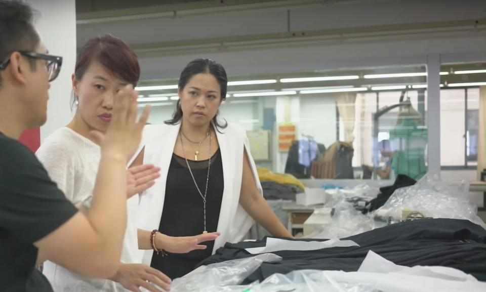 Lisa Sun, founder and CEO of Gravitas, working with her factory teams in Asia.