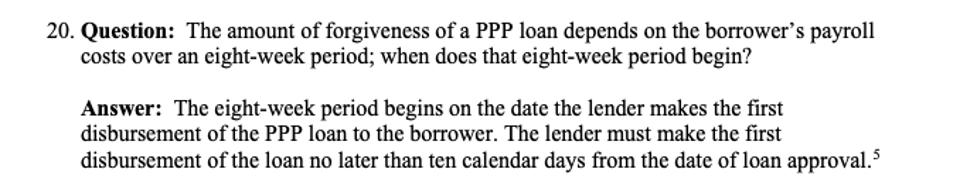 PPP loan rules