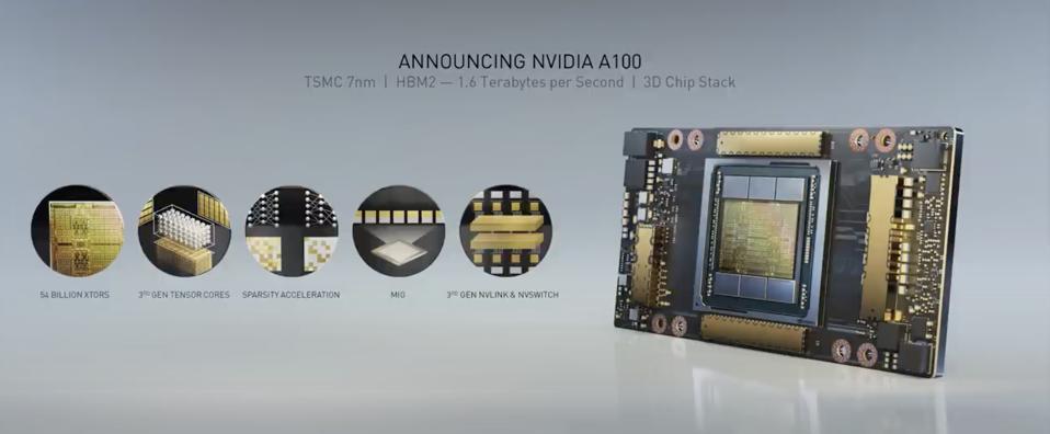 Photo of NVIDIA A100 cheip