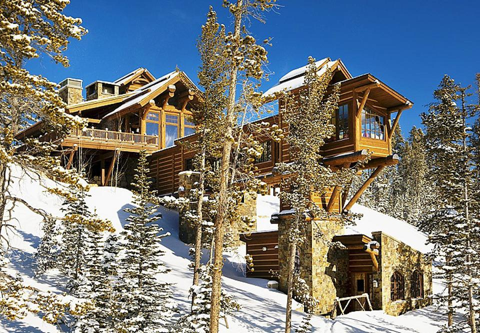 A 12,500-square foot retreat at the tony Yellowstone Club in Montana is on the market for $17,950,000.
