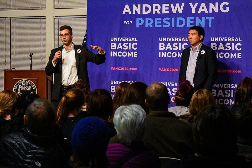 Andrew Yang has endorsed Jonathan Herzog
