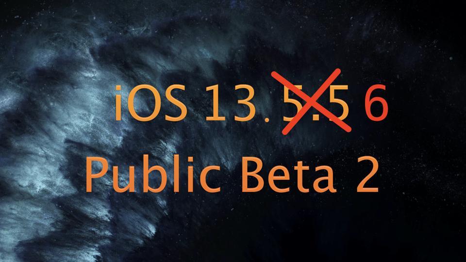 iOS 13.6 Public Beta 2