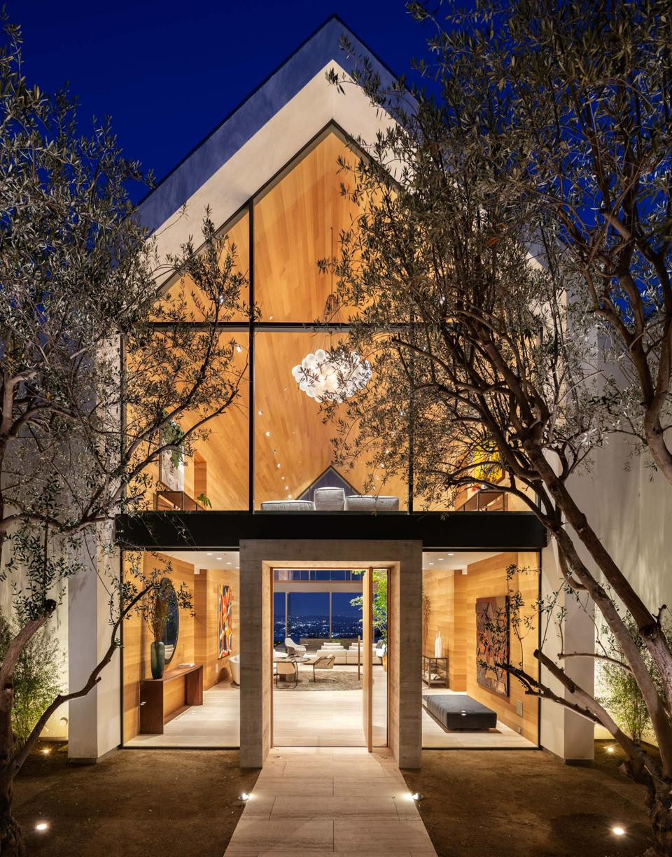 Forest Knoll, olive trees, Los Angeles, Hollywood Hills, Compass, luxury real estate