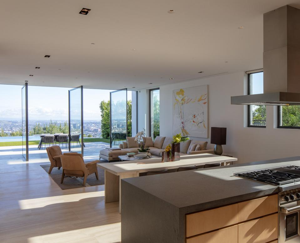 Forest Knoll, kitchen, view, Los Angeles, Hollywood Hills