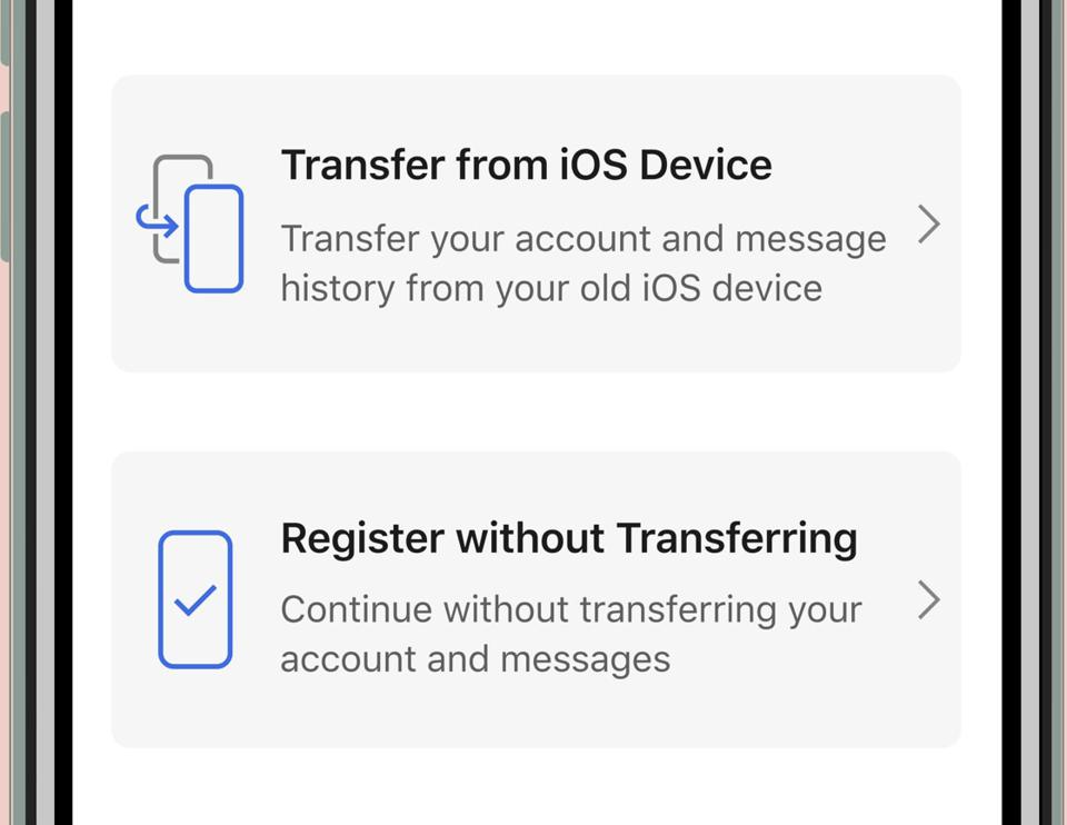 iOS transfer